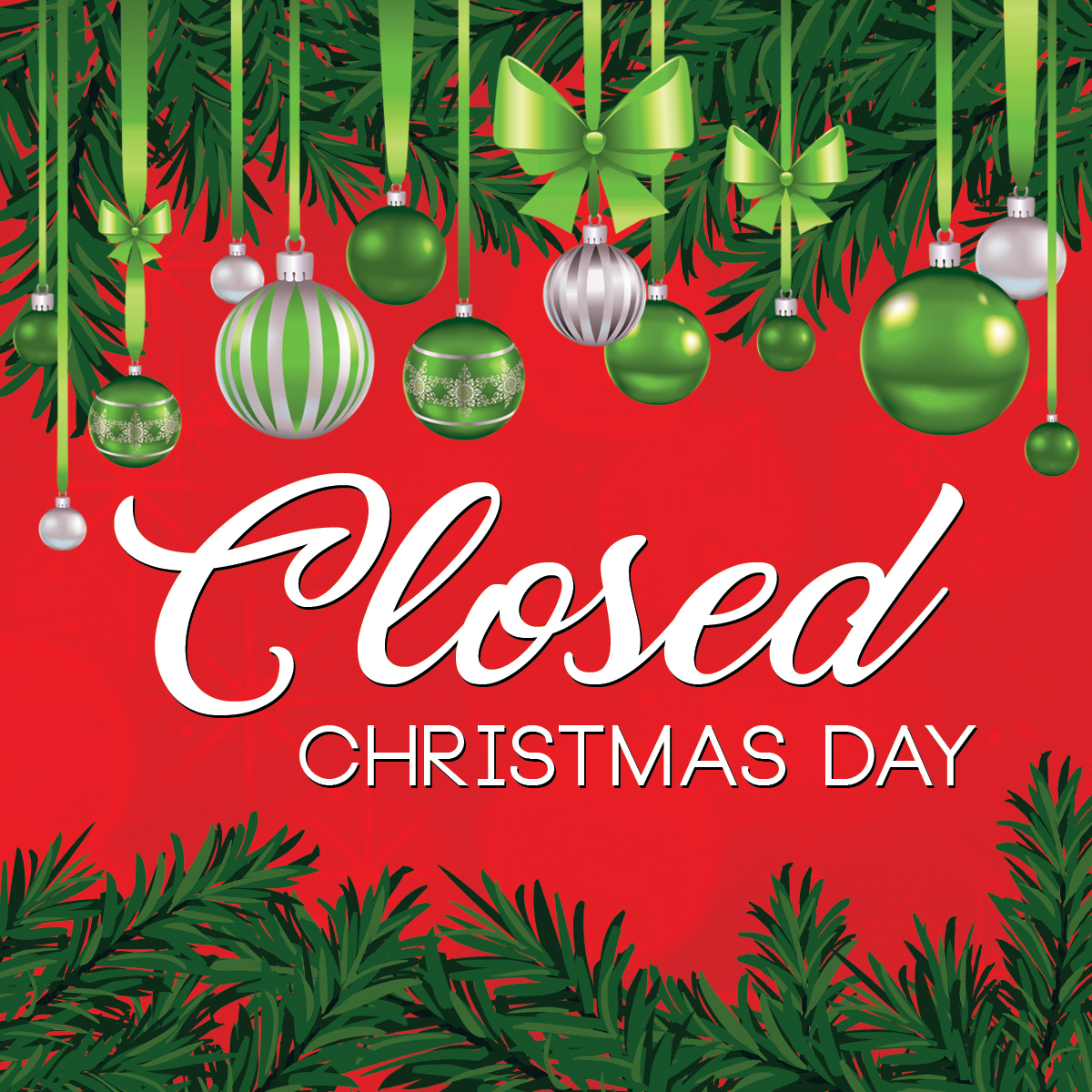 Closed on Christmas Day - Broken Top Bottle Shop